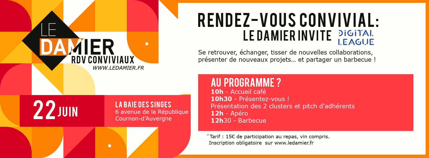 LE DAMIER invite Digital League pour son RDV convivial le 22/06