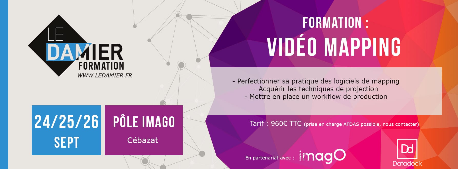 Formation vidéo mapping
